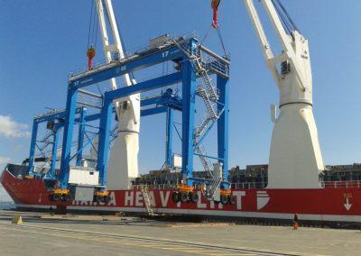 В 2017 «Запорожкран» изготовил ходовую на козловой кран типа «Голиаф» для судостроительной верфи «Meyer Turku» (Финляндия). Общий вес – более 100 тонн.