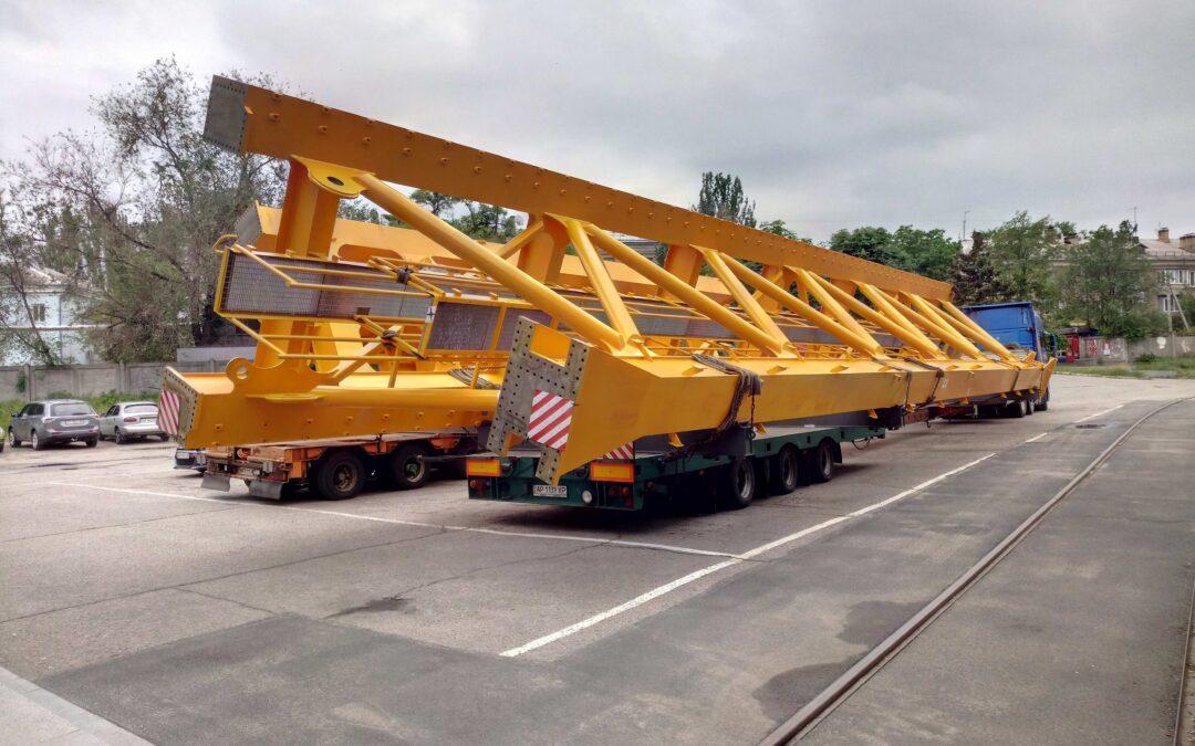Новые конструкции крана-ротатора были произведены на Запорожкране и уже готовы к отгрузке.