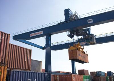 Козловые портовый контейнерные краны на рельсовом ходу (rmg)