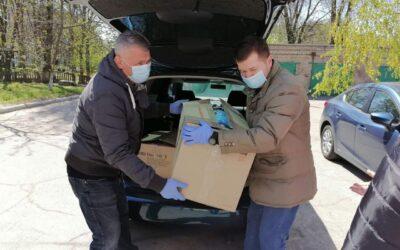 Запорожкран передал помощь медицинским работникам городской клинической больницы №6 города Запорожье
